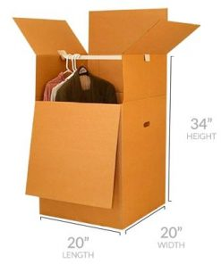 SHORTY WARDROBE BOX (1 PIECE)