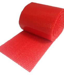 "RED BUBBLE SMALL 3/16"" WRAP 60' ROLL X 12"" WIDE"